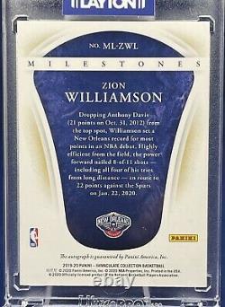 19-20 Immaculate Basketball Milestones Rookie Auto 13/25 Zion Williamson Mint