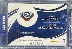 19-20 Immaculate Nba Dual Rookie Auto 10/10 Zion Williamson & Nickeil Alexander