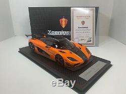 1/18 FrontiArt Koenigsegg Agera RS XS Orange SIGNED By Christian Von Koenigsegg