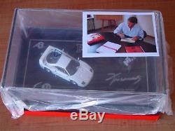 1/43 AutoBarn MR Bosica Ferrari F40 engine signed open limited edition white