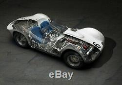 1 OF 6, SIGNED, MODIFIED, & WEATHERED CMC 118 Maserati Tipo 61'Birdcage' #66