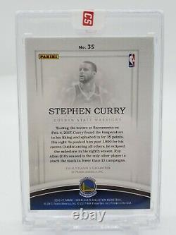 2016-17 Panini Immaculate Shadowbox Stephen Curry ACETATE Auto Autograph /35