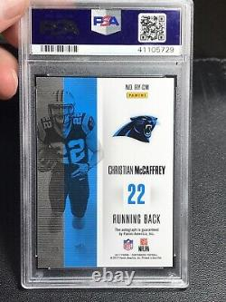 2017 Contenders Christian McCaffrey RC AUTO GOLD REFRACTOR /5 ON CARD PSA 9 Mint