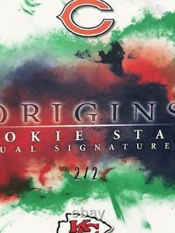 2017 Origins Patrick Mahomes RC AUTO /2 ON CARD AUTOGRAPH ROOKIE DUAL SIGNATURES