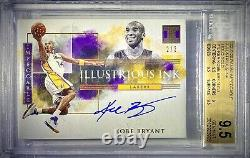 2019-2020 Panini Impeccable Illustrious Ink Kobe Bryant 2/3 Gold Holo BGS 9.5 LA