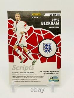 2020-21 MOSAIC UEFA EURO SOCCER David Beckham England Prizm Scripts AUTO Ssp