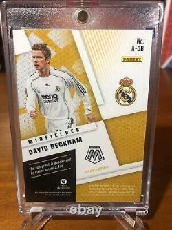 2020-21 Mosaic La Liga Soccer David Beckham Gold/Black Prizm AUTO Real Madrid