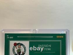 2020-21 Panini Impeccable Jayson Tatum VICTORY Auto #'d 5/5 SSP ON CARD INSERT