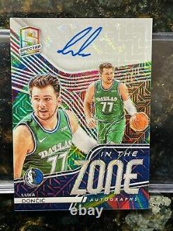 2020-21 Panini Spectra Luka Doncic In the Zone Meta Mojo Auto/Autograph #15/15