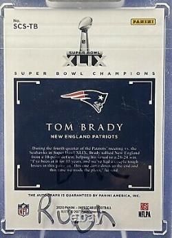 2020 Impeccable Football Super Bowl Champions 2/5 Tom Brady