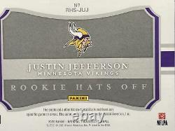 2020 National Treasures Football Justin Jefferson 1/3 Hats Off Rookie Patch Auto
