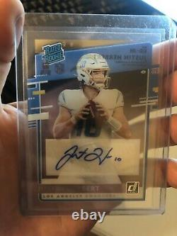 2020 Panini Chronicles Clearly Donruss Rated Rookie Justin Herbert Auto