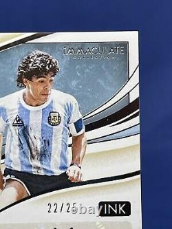 2020 Panini Immaculate Soccer Diego Maradona 22/25 Immaculate Sapphire Auto