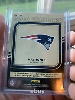 2021 Gold Standard Mac Jones Rpa Rc Patch Gold Ink Auto /49 Ssp Patriots Alabama