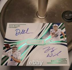 2021 Immaculate Zach Wilson Dual On Card Auto #d 5/5! NY Jets Dax Milne