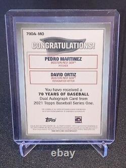 2021 Topps Series 1 70 Years Of Baseball Dual Auto Pedro Martinez/David Ortiz