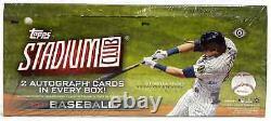 2021 Topps Stadium Club Baseball Hobby Box Brand New Free Priority Ship