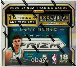 21 Panini Prizm Basketball Fast Break Hobby Box Factory Sealed Lamelo Edwards