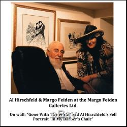 AL HIRSCHFELD Hand-Signed Limited Edition BETTE DAVIS COA by MARGO FEIDEN