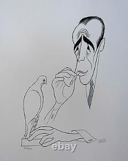 AL HIRSCHFELD THE MALTESE FALCON Hand Signed Ltd Ed. Lithograph HUMPHREY BOGART