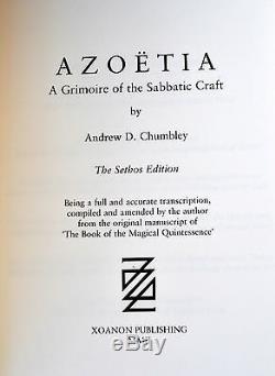 AZOETIA Sethos-Behena Andrew Chumbley XOANON Signed Talismanic Grimoire LE 63/77