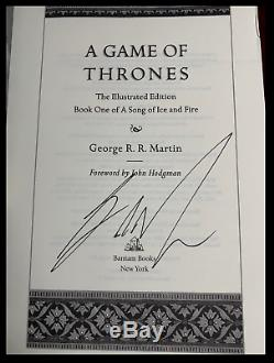A Game of Thrones SIGNED by GEORGE R. R. MARTIN New Illustrated Edition Hardback