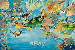 A Plethora Of Fish Dr. Seuss Art (Ted Geisel) Limited Edition Art Very Rare