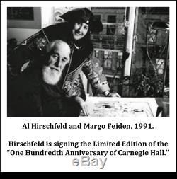Al Hirschfeld's CHARLIE CHAPLIN, THE LITTLE TRAMP Hand Signed Ltd Ed Lithograph