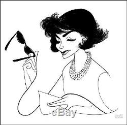 Al Hirschfeld's JACKIE, AN AMERICAN LIFE Hand Signed Limited Edition Lithograph