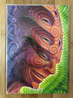 Alex Grey Shpongled Limited Edition Blotter Art Signed / Numbered 45/125 LSD