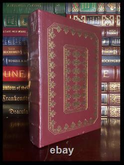 American Gods SIGNED by NEIL GAIMAN Sealed Easton Press Leather Bound Hardback