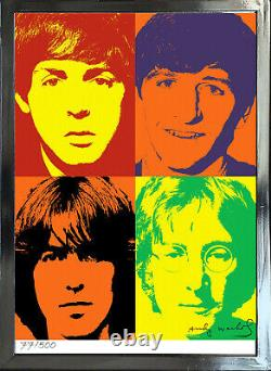 Andy Warhol Signed/Hand-Numbered Beatles Litho Print 17x22 (unframed) -01015