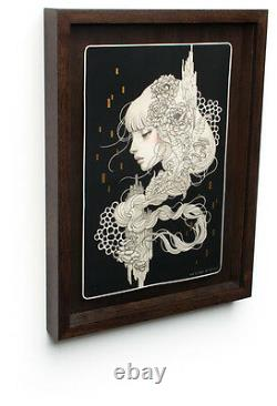 Audrey Kawasaki Eien Framed Intaglio Print Edition of 50 SOLD OUT