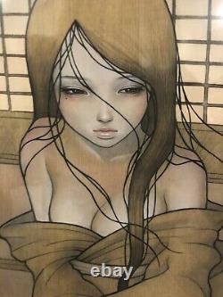 Audrey Kawasaki Kazamachi Giclee Art Print Signed 24x24 2009 136/150