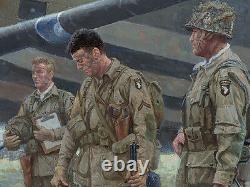Autographed C-47 print depicting Dick Winters & his Band of Brothers E-Company