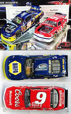Autographed Chase & Bill Elliott Nascar Champions 2-car Set 1/24 Action Diecast