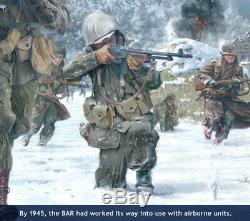 Band of Brothers Print depicting Ron Speirs & autographed by 14 Bastogne vets
