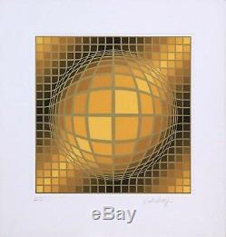 Biga II by Victor Vasarely (Signed, Limited Edition Serigraph, AP)