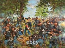 Black Hats, 19th Indiana Regt Iron Brigade at Gettysburg Don Troiani Print