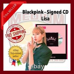 Blackpink The Album CD with Signed Cover Autograph by Lisa US Seller In Hand