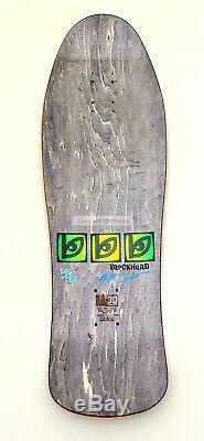 Blockhead Omar Hassan Limited Edition Reissue Skateboard Deck. Signed 30yr Anniv