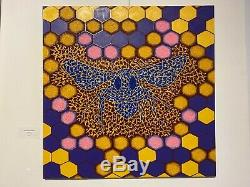 Blue Bee Call People Safe Bees To Save Earth By Labu Oil On Canvas