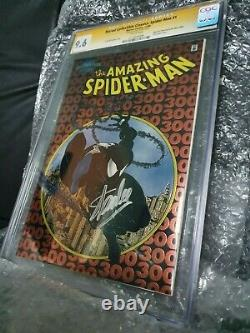 CGC SS 9.6 Amazing Spider-Man #300 Chromium Marvel signed by Stan Lee