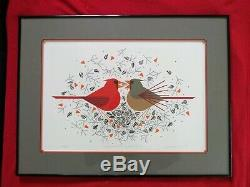 Charley Charlie Harper Signed Cardinal Courtship Limited Edition Print
