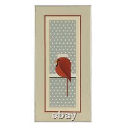 Charley Harper Signed Limited Edition Serigraph Cool Cardinal, 1974