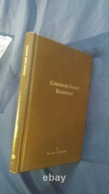 Common Sense Renewed by Robert Christain (Leather bound, Signed # 98/100)