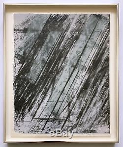 Cy Twombly Framed Signed/Numbered 1973 limited edition screenprint & lithograph