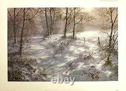 DAVID DIPNALL Where Bluebells Grow snow SIGNED LTD ED SIZE56cm x 78cm NEW