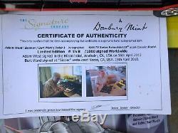 Danbury Mint 118 Classic Batmobile Signed Adam West BATMAN Burt Ward ROBIN Ltd