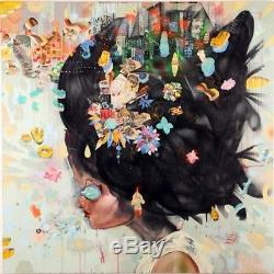 David Choe City Girl 2007 Limited Edition poster #/150 Signed 24x24 RARE PRINT